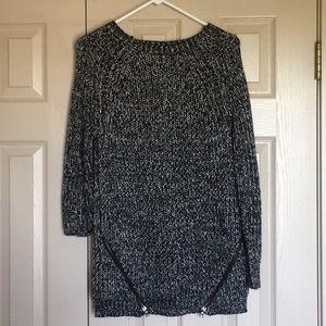 Forever 21 black zipper sweater